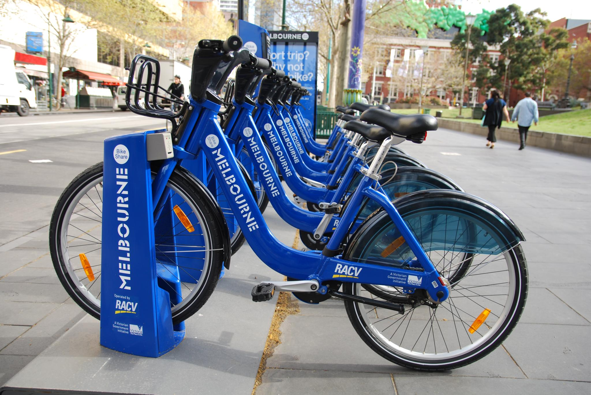 Đạp xe miễn phí ở Melbourne