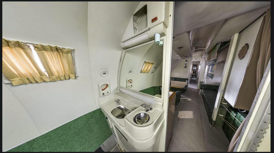 Inside Truman's plane