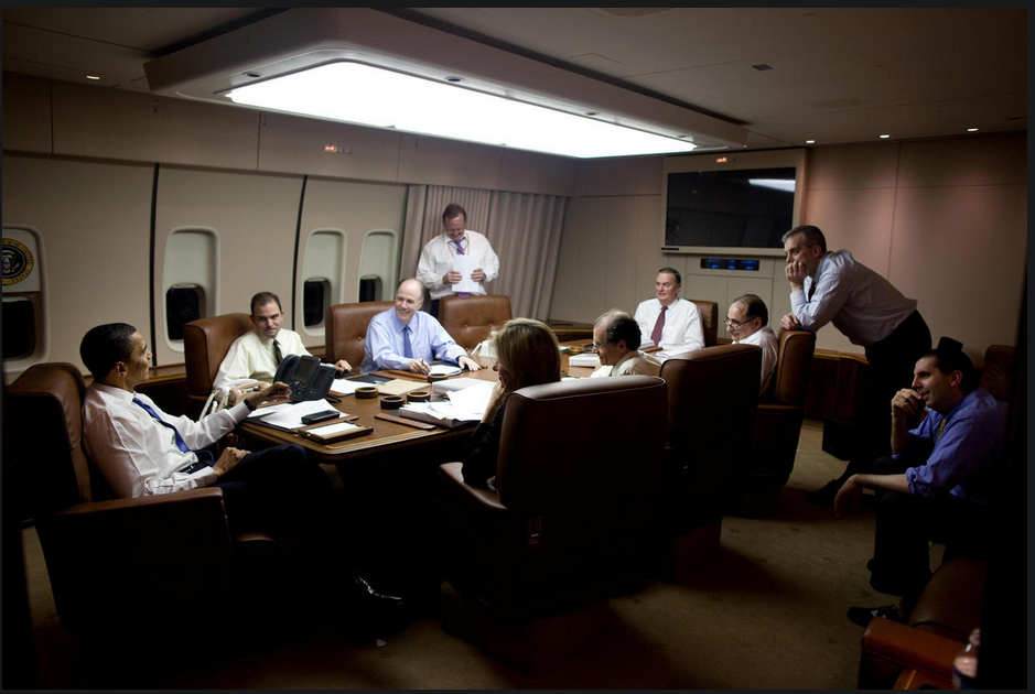 The Air Force One conference room