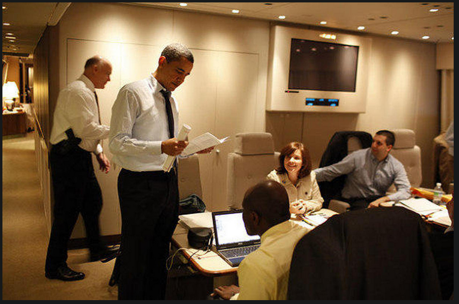 The Air Force One staff room