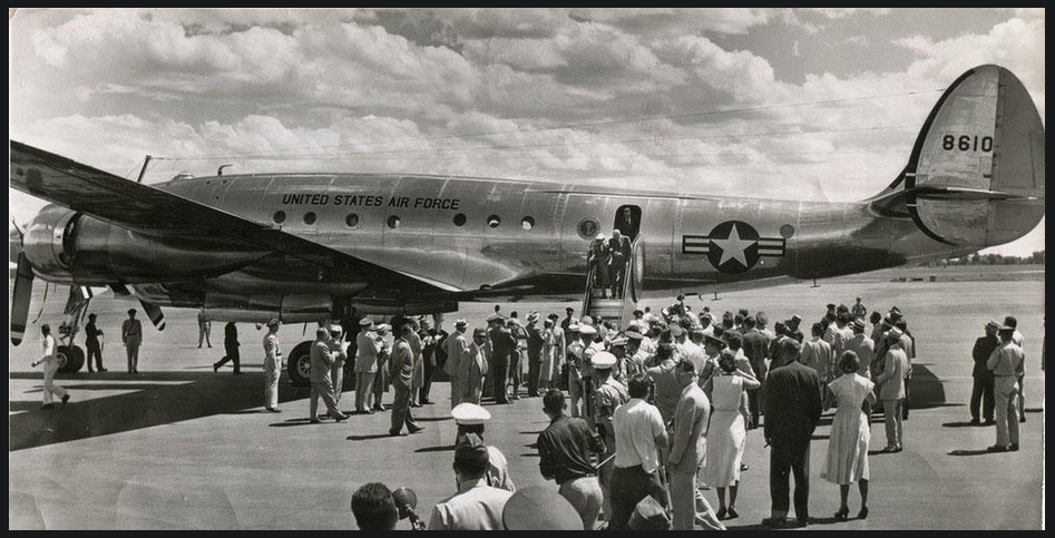 The first-ever Air Force One, 1953