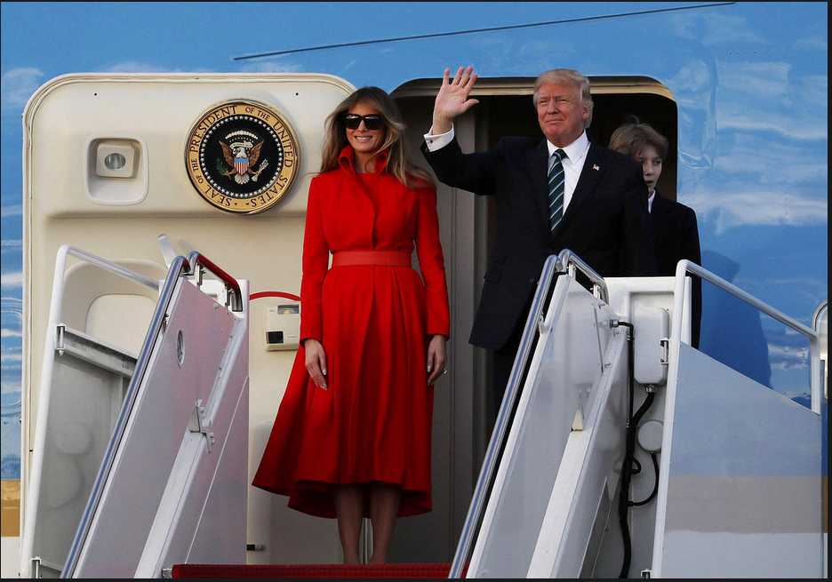 Welcome aboard Trump's Air Force One