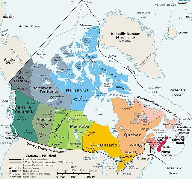Canada thuộc khu vực khí hậu ôn hòa, có 4 mùa trong năm