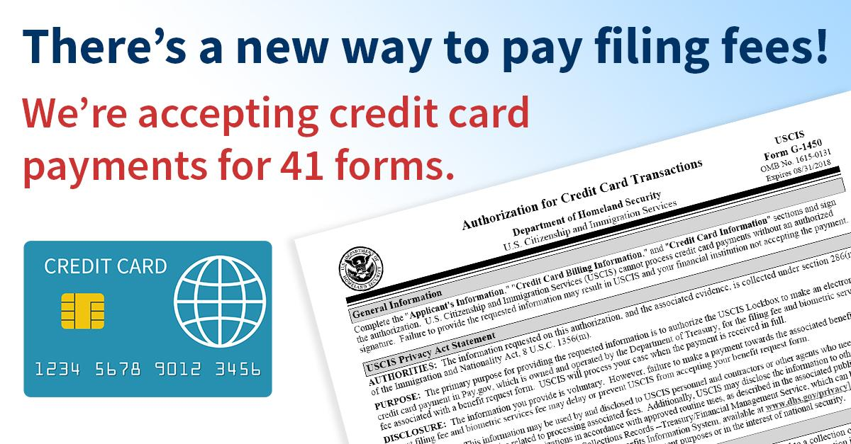uscis approve credit card