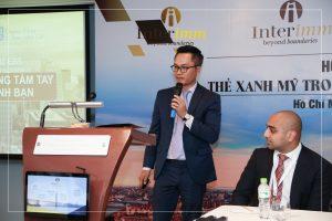 Thông tin về EB5 cùng Interimm được ông Minh Lê chia sẻ xuyên suốt quà trình diễn ra hội thảo
