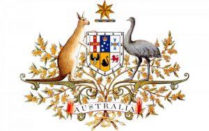 Quốc huy nước Úc gây ấn tượng bởi sự kết hợp thẩm mỹ giữa hình ảnh của cả chim muông, thú rừng, hoa và huy hiệu của 6 tiểu bang thuộc Cộng đồng Liên bang Úc